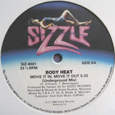 Body Heat - Move It In, Move It Out (Vinyl)