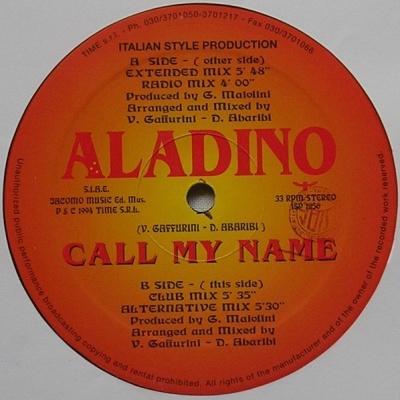 Aladino - Call My Name (Vinyl) (Album)