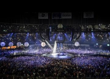 Muse привезли в «Олимпийский» дронов