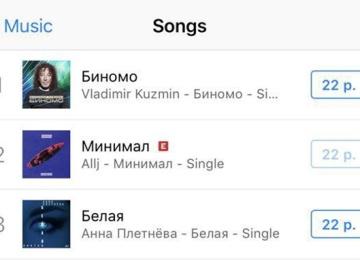 Извини, Оля Бузова! Чарт iTunes Россия возглавила песня Владимира Кузьмина «Биномо»