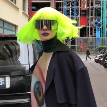 Наталья Водянова теперь с зелеными волосами