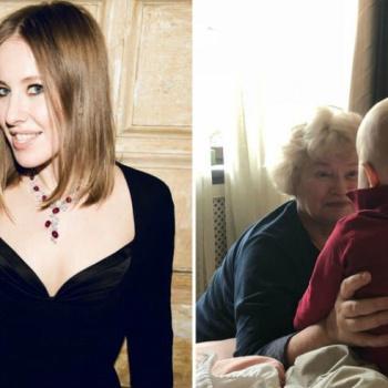 Ксения Собчак решилась показать фото сына с бабушкой