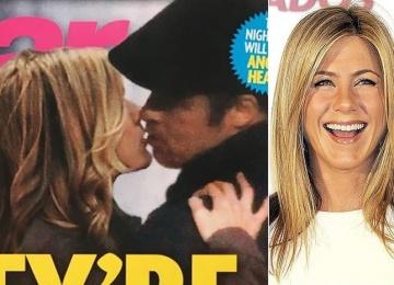 Попались! Таблоид опубликовал фото Питт и Энистон за поцелуями