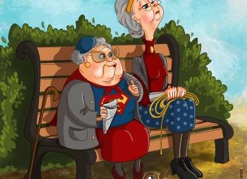 Художница из Перми изобразила супергероев, вышедших на пенсию