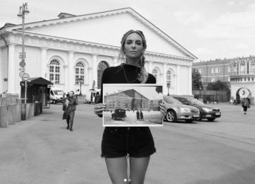 Екатерина Варнава поделилась снимком военной Москвы