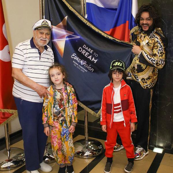 Дети Филиппа Киркорова приехали на «Евровидение»